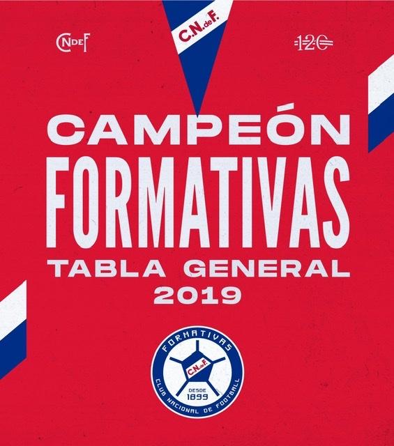 Formativas: Nacional obtuvo la Tabla General